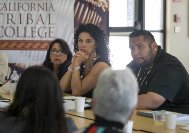 Officers and Regents of the California Tribal College at a meeting