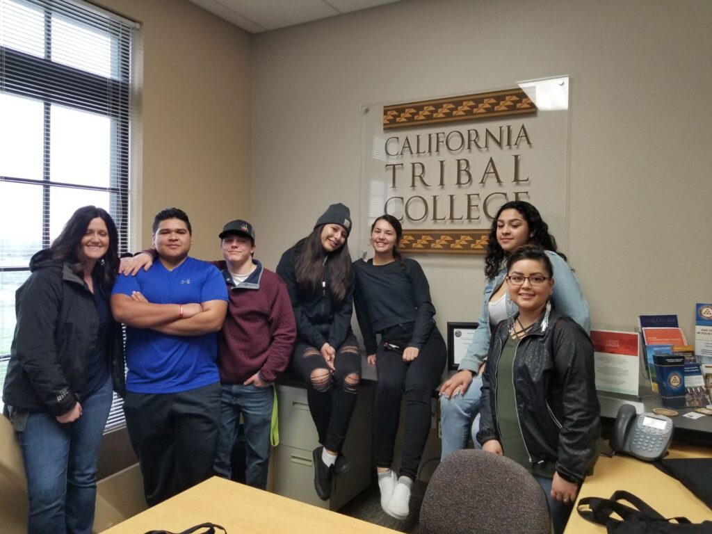 High School Students visiting California Tribal College