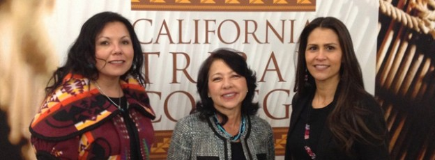 California Tribal College supporters Tishmall Turner, Director Marilyn Delgado, and Dr. Joely Proudfit